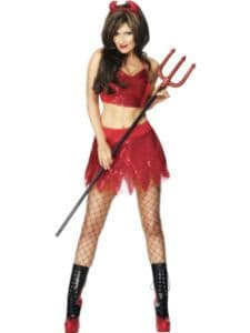 She-Devil - Sexy Halloween Fancy Dress Costume (Smiffys 27067)