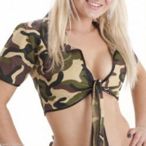 Shrug - Tie-Front - Camouflage (Crazy Chick)