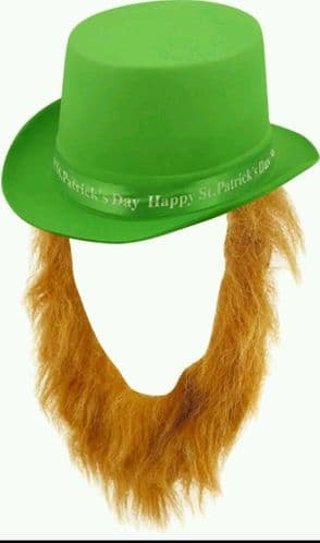 St Patrick's Day Top Hat with Beard