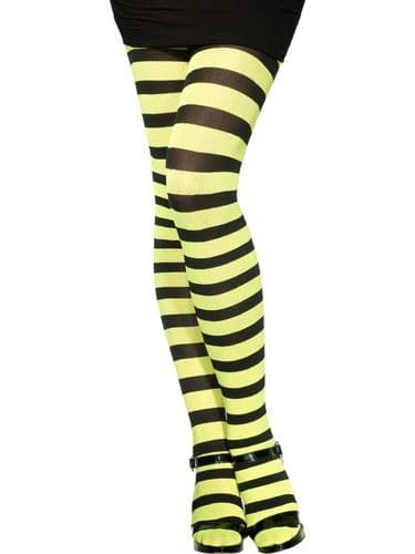 Stripey Tights - Green/Black  (Smiffys 21348)