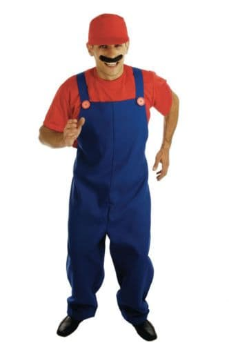 Super Mario 'Plumber's Mate' Fancy Dress (Fun Shack 2279)