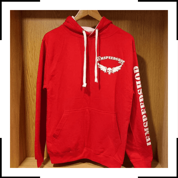 RED white Hoodie