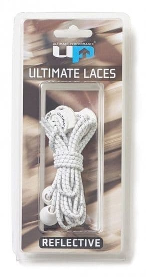 White Reflective Ultimate Performance Elastic Lock Laces