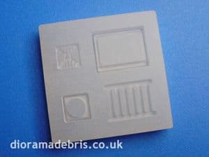 1:24 Scale Drain Grates & Frames Mould (1240078)