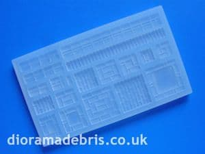 1:35 Scale Pier Caps & Wall Coping (Brick) Mould (0350069)