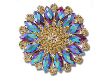 Amethyst AB Style 8740 EIMASS® Sew or Glue on Jewelled Applique for Wedding Dress, Costumes