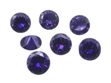 Amethyst Chatons, EIMASS® Exquisite Range Synthetic Diamonds