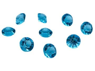 Aquamarine, Table Scatter Crystals, EIMASS® 3787 Unfoiled Point Back Glass Chatons