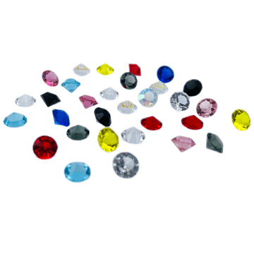 Assorted Colours Table Scatter Crystals, EIMASS® 3787 Unfoiled Glass Diamonds