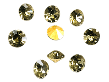 Black Diamond Point Back Crystals, EIMASS® World Class Foiled Chatons