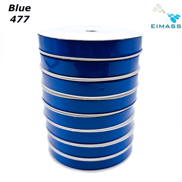 Blue (477) Premium Double Sided EIMASS® Satin Ribbons 6mm 10mm 15mm 20mm 25mm 38mm