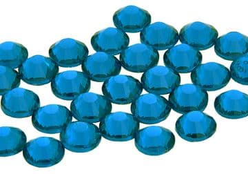 Capri Blue, EIMASS® 7787 Grade A Flat-Back Non-Hot Fix Glass Crystals