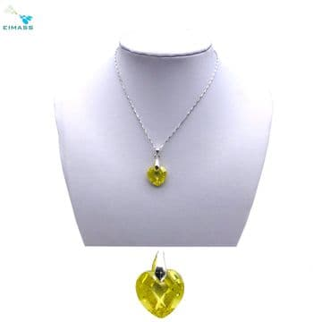 Citrine Heart Shape Pendant - EIMASS® Elements Zircon Gifts, Swarovski Alternative