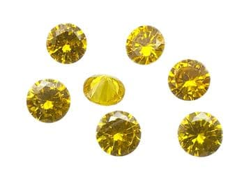 Citrine Yellow Chatons, EIMASS® Exquisite Range Synthetic Diamonds