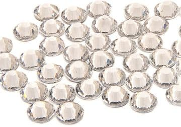 Clear Crystal, EIMASS® 7787 Grade A Flat-Back Non-Hot Fix Glass Crystals (Small Packs)