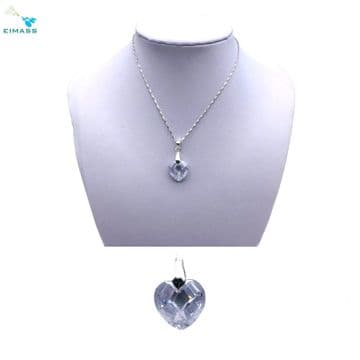 Clear Crystal Heart Shape Pendant - EIMASS® Elements Zircon Gifts, Swarovski Alternative