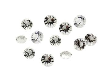 Clear Table Scatter Crystals, EIMASS® 3787 Unfoiled Glass Diamonds