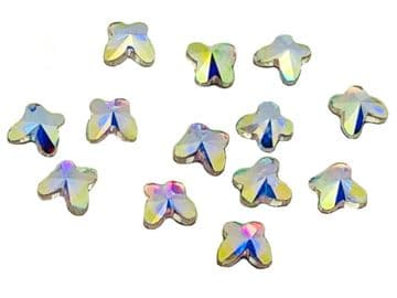 Crystal AB Butterfly Hot Fix, EIMASS® 7737 Tiny Glass Crystals