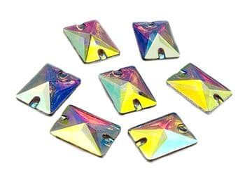 Crystal AB Rectangle Shape, EIMASS® Resin Sew on Glue on Crystals