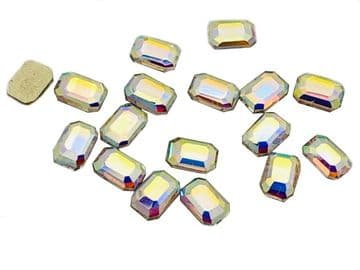 Crystal AB Rectangle Style 1, EIMASS® 8830 Tiny Glass Crystals - Nail Art