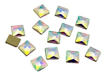 Crystal AB Square, EIMASS® 8830 Tiny Glass Crystals - Nail Art