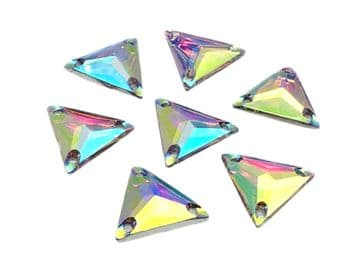 Crystal AB Triangle, EIMASS® Resin Crystals, Sew on Glue on Stones