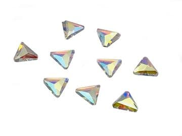Crystal AB Triangle Hot Fix, EIMASS® 7737 Tiny Glass Crystals