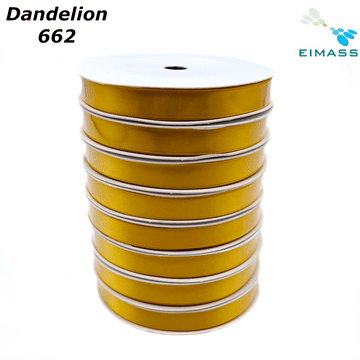 Dandelion (662) Premium Double Sided EIMASS® Satin Ribbons 6mm 10mm 15mm 20mm 25mm 38mm