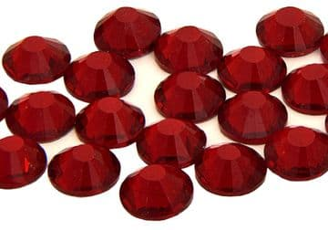 Dark Siam Ruby, EIMASS® 7787 Grade A Flat-Back Non-Hot Fix Glass Crystals (Small Packs)