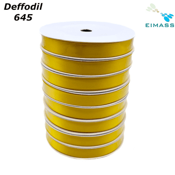 Deffodil (645) Premium Double Sided EIMASS® Satin Ribbons 6mm 10mm 15mm 20mm 25mm 38mm