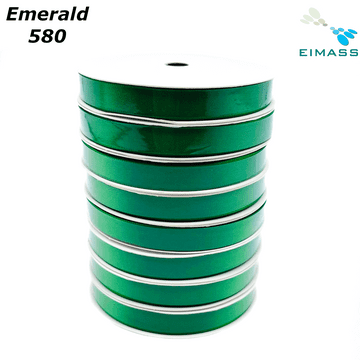 Emerald (580) Premium Double Sided EIMASS® Satin Ribbons 6mm 10mm 15mm 20mm 25mm 38mm