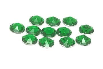Emerald Green, EIMASS® Star Cut Resin Sew on Crystals, Non Hot Fix Rhinestones