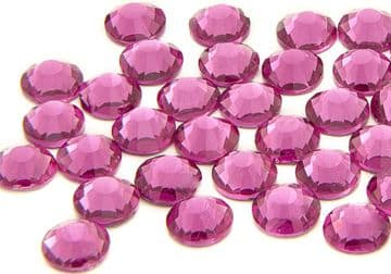 Fuchsia Pink, EIMASS® 7787 Foiled Flat-Back Non-Hot Fix Glass Crystals