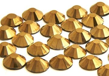 Gold Hematite, EIMASS® 7787 Flat-Back Non-Hot Fix Glass Crystals
