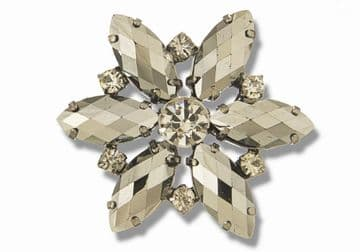 Hematite Style 8730 EIMASS® Sew or Glue on Jewelled Applique for Wedding Dress, Costumes