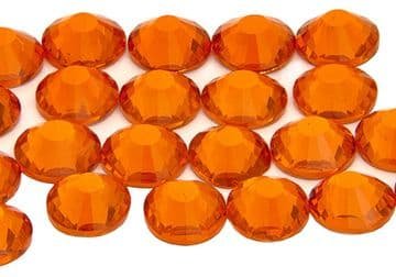 Hyacinth Orange, EIMASS® 7787 Grade A Flat-Back Non-Hot Fix Glass Crystals