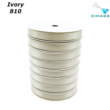 Ivory (810) Premium Double Sided EIMASS® Satin Ribbons 6mm 10mm 15mm 20mm 25mm 38mm