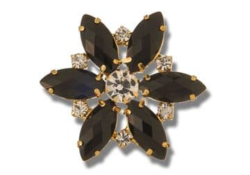 Jet Black Style 8730 EIMASS® Sew or Glue on Jewelled Applique for Wedding Dress, Costumes