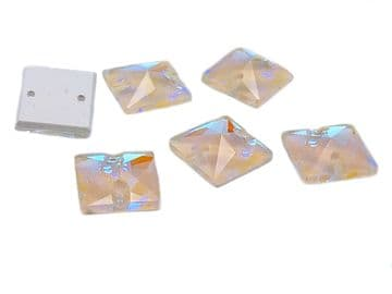 Jonquil AB Square, EIMASS® 8868 Exquisite Range Sew on Glue on Flat Back Crystals