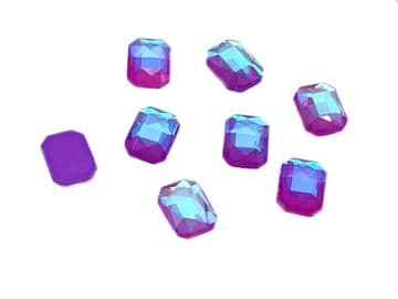 Lavender AB Rectangle 6x10mm, EIMASS® 8830 Tiny Glass Crystals - Nail Art  Size 6x10mm