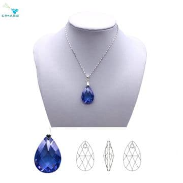 Light Amethyst Teardrop Shape Pendant - EIMASS® Elements Zircon Gifts, Swarovski Alternative