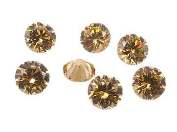 Light Gold Chatons, EIMASS® Exquisite Range Synthetic Diamonds