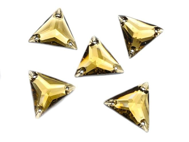 Light Gold Triangle, EIMASS® Resin Crystals, Sew on Glue on  Stones