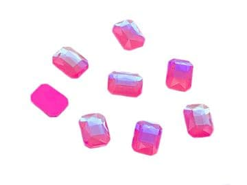 Light Pink AB Rectangle 6x10mm, EIMASS® 8830 Tiny Glass Crystals - Nail Art  Size 6x10mm