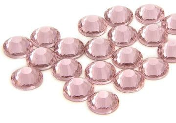 Light Pink, EIMASS® 7787 Flat-Back Non-Hot Fix Glass Crystals