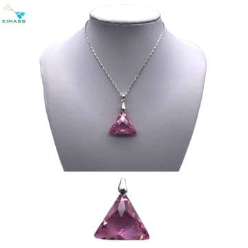 Light Pink Triangle Shape Pendant - EIMASS® Elements Zircon Gifts, Swarovski Alternative