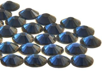 Montana Navy Blue, EIMASS® 7787 Grade A Flat-Back Non-Hot Fix Glass Crystals