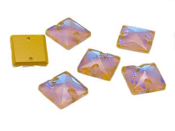 Ochre AB Square, EIMASS® 8868 Exquisite Range Sew on Glue on Flat Back Crystals