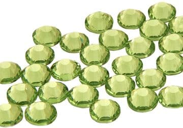 Peridot Lime Green, EIMASS® 7787 Grade A Flat-Back Non-Hot Fix Glass Crystals
