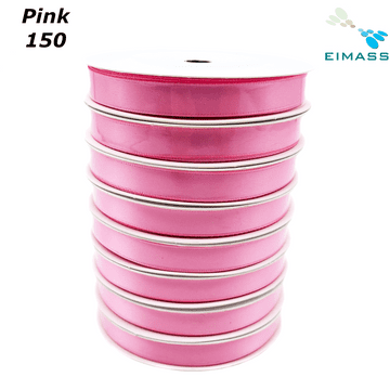 Pink (150) Premium Double Sided EIMASS® Satin Ribbons 6mm 10mm 15mm 20mm 25mm 38mm